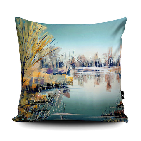 Still River Cushion by Clare Buchta Cushion by Clare Buchta