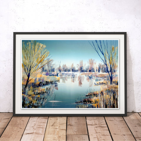Still River Original Print by Clare Buchta