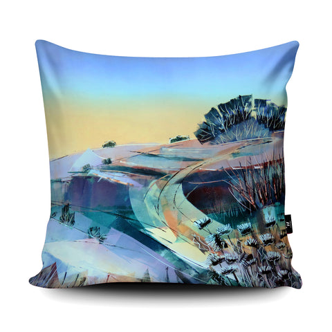 Wittenham Clumps Cushion by Clare Buchta Cushion by Clare Buchta