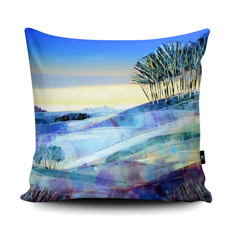 Winter Copse Cushion by Clare Buchta Cushion by Clare Buchta