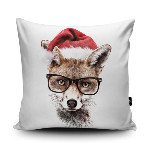 Christmas Fox Cushion by Robert Farkas