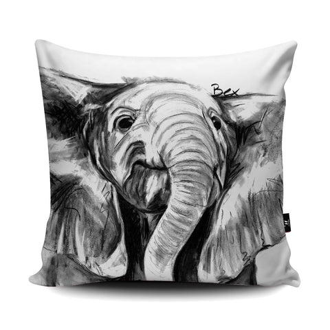 Elephant Cushion by Bex Williams