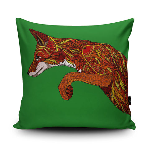Fox Pounce Cushion by Paul Robbins