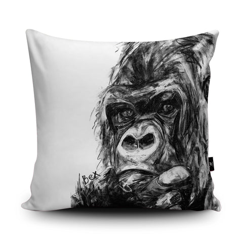 Gorilla Cushion by Bex Williams