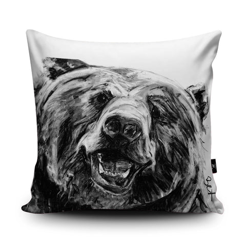 Grizzly Cushion by Bex Williams