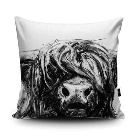 Highland Cow Cushion by Bex Williams