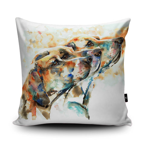 Hounds Cushion by Liz Chaderton