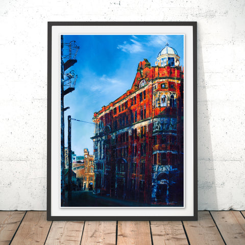 Balloon Street, Manchester Original Print by Hugh Winterbottom