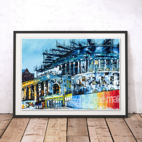Manchester Central Library Original Print by Hugh Winterbottom