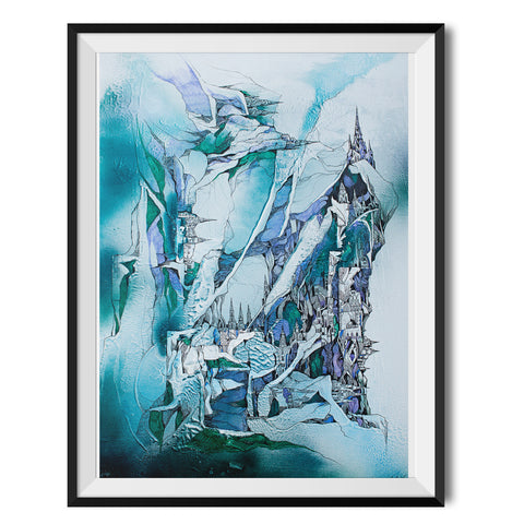Ice Planet Original Print by Lee Vincent