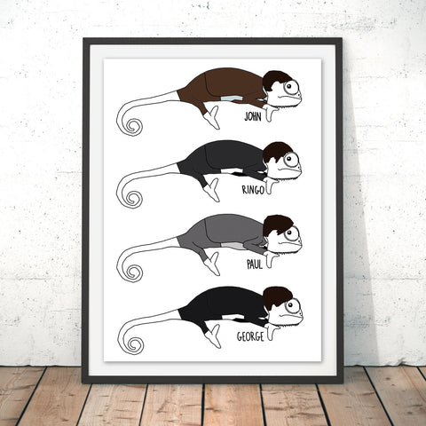 Chameleon Beatles Original Print by Jasmine Hutchison