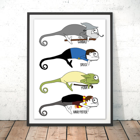 Chameleon Movies Original Print by Jasmine Hutchison