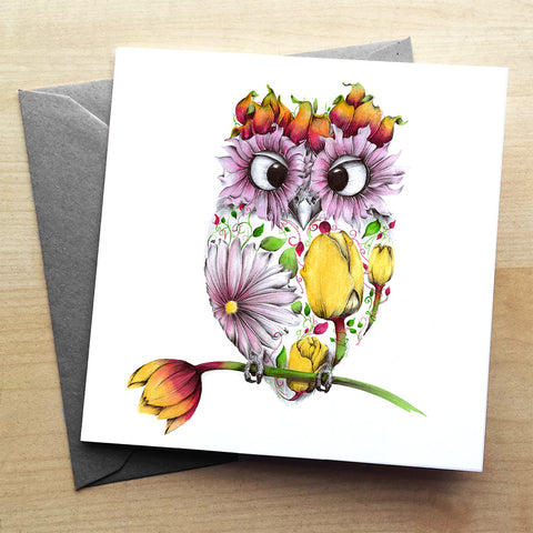 Agnes Greetings Card by Kat Baxter
