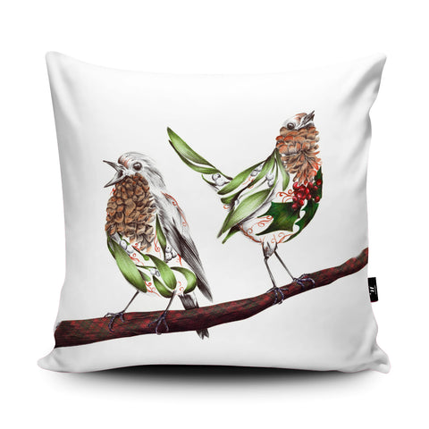 Misty and Holly Cushion by Kat Baxter