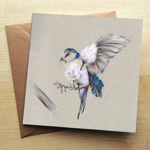 Rustic Bird Flight Greetings Card by Kat Baxter