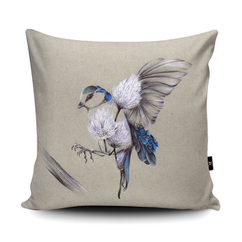 Rustic Bird Flight Cushion by Kat Baxter