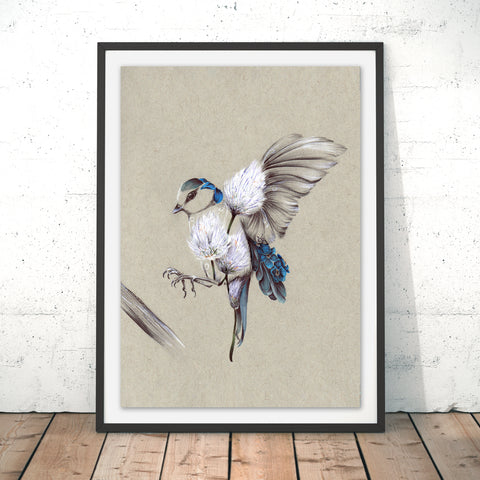 Rustic Bird Flight Original Print by Kat Baxter