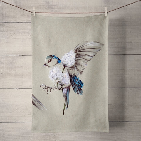 Rustic Bird Flight Tea Towel by Kat Baxter