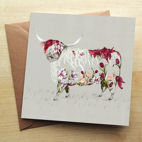 Rustic Bonnie Greetings Card by Kat Baxter