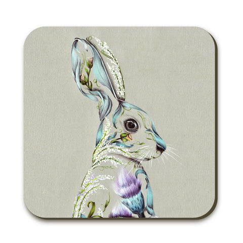 Rustic Hare Coaster by Kat Baxter