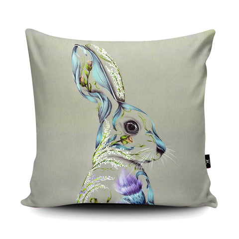 Rustic Hare Cushion by Kat Baxter
