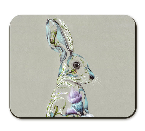 Rustic Hare Placemat by Kat Baxter
