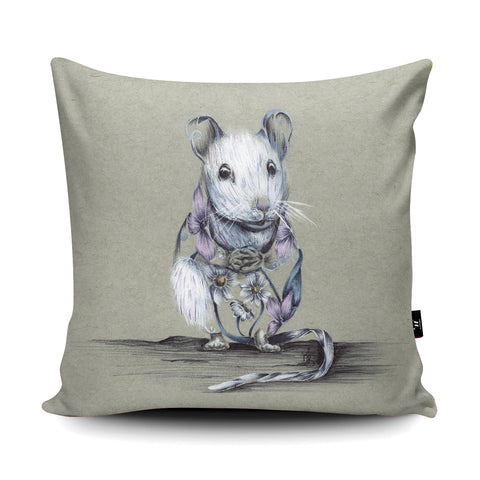 Rustic Mouse Cushion by Kat Baxter