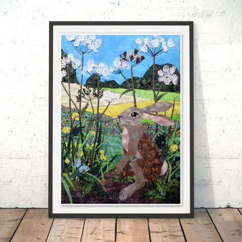 Buttercup Hare Original Print by Kate Findlay