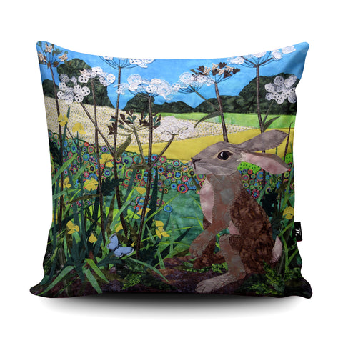 Buttercup Hare Cushion by Kate Findlay