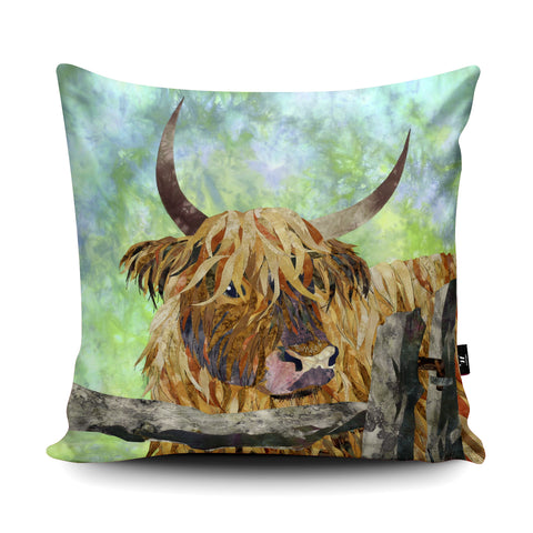 Cow and Gate Cushion by Kate Findlay