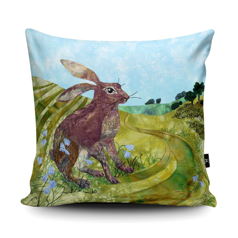 Downland Hare Cushion by Kate Findlay