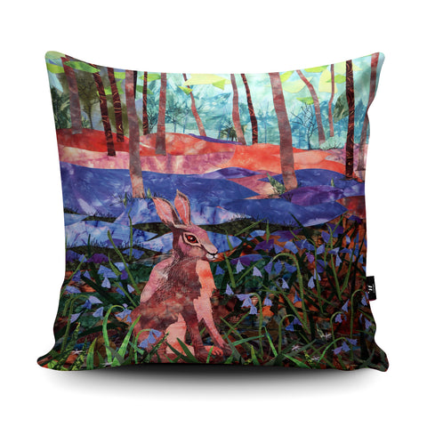 Hare Wood Cushion by Kate Findlay