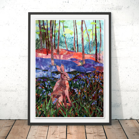 Hare Wood Original Print by Kate Findlay