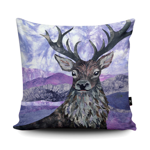 Heather Stag Cushion by Kate Findlay