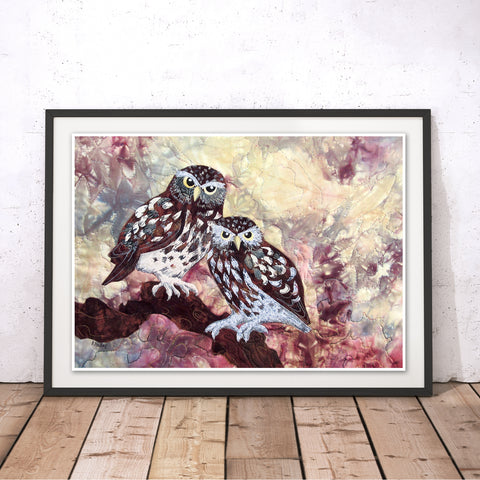 Little Owls Original Print by Kate Findlay