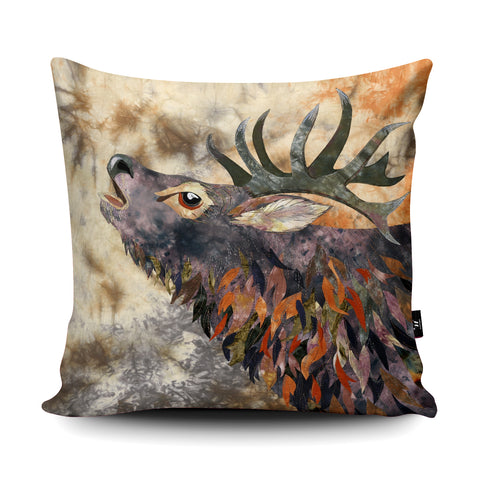 Russet Stag Cushion by Kate Findlay