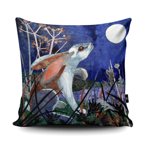 Moonlight Hare Cushion by Kate Findlay