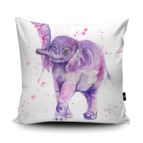Splatter Baby Elephant Cushion by Katherine Williams