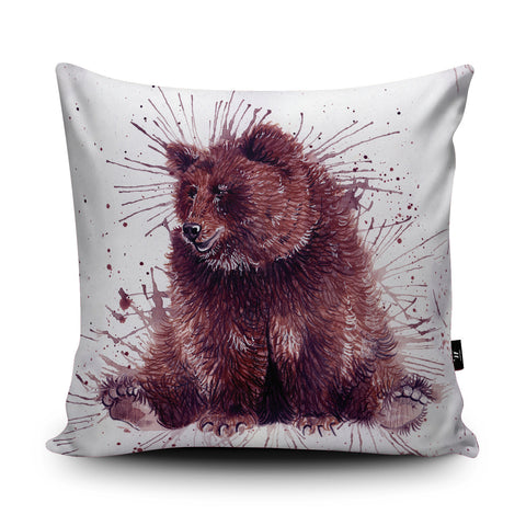 Splatter Bear Cushion by Katherine Williams