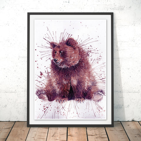 Splatter Bear Original Print by Katherine Williams
