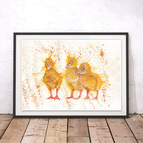 Splatter Chicks Original Print by Katherine Williams