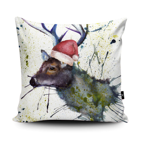 Splatter Christmas Stag Cushion by Katherine Williams
