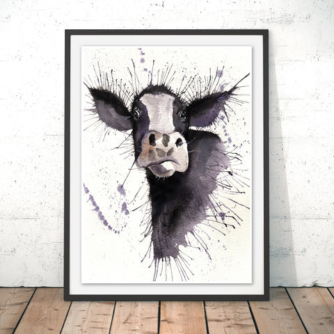 Splatter Cow Original Print by Katherine Williams