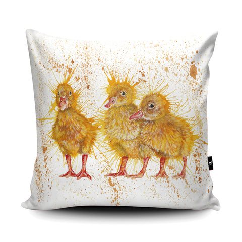 Splatter Chicks Cushion by Katherine Williams