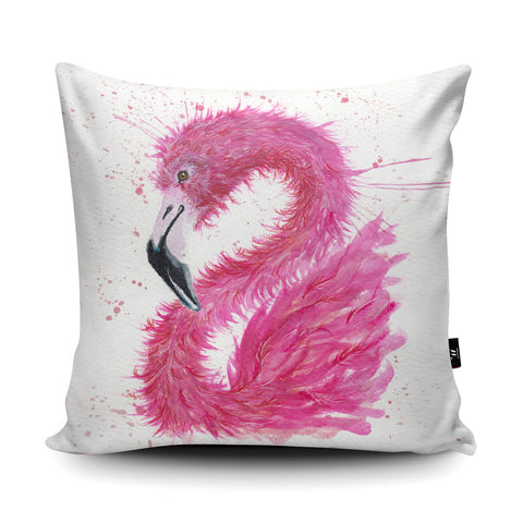 Splatter Flamingo Cushion by Katherine Williams