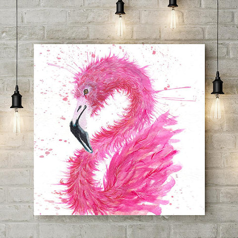 Splatter Flamingo Coaster by Katherine Williams