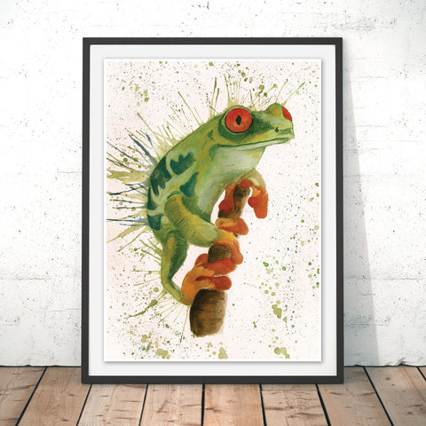 Splatter Frog Original Print by Katherine Williams