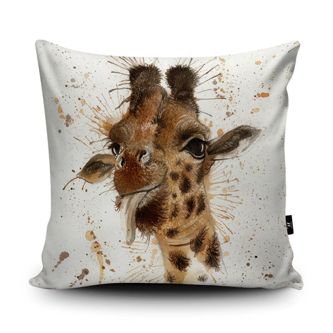 Splatter Giraffe Cushion by Katherine Williams