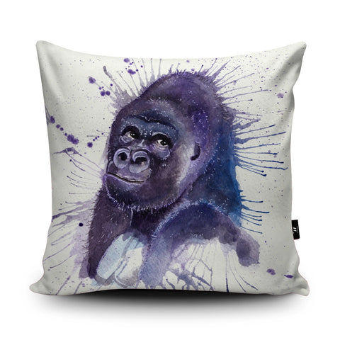 Splatter Gorilla Cushion by Katherine Williams