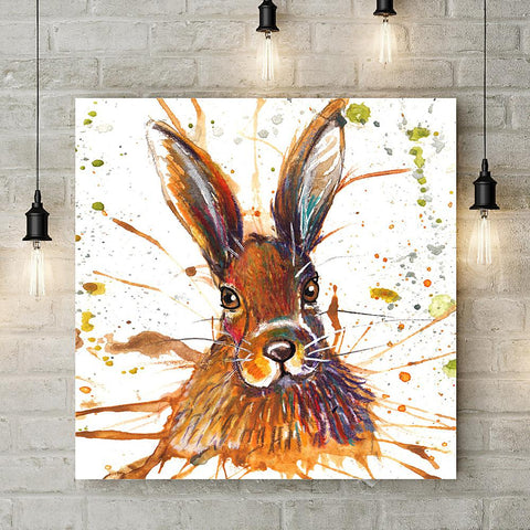 Splatter Hare Coaster by Katherine Williams
